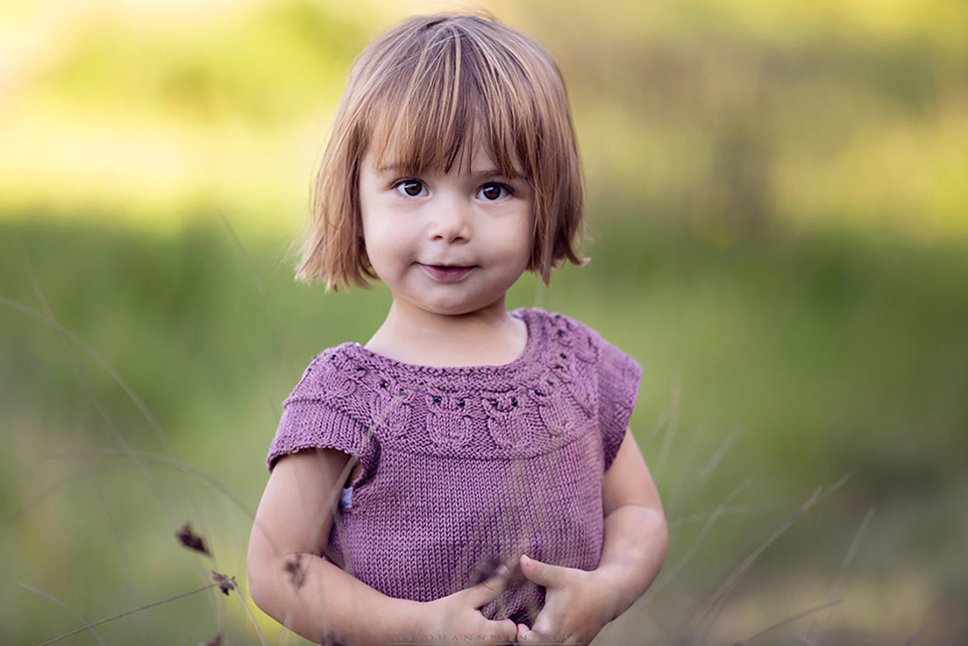 Perfekt børnebillede i naturen